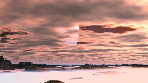 Huge Alien Moon Animation