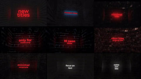 Neon Titles And Logo After Effects Template