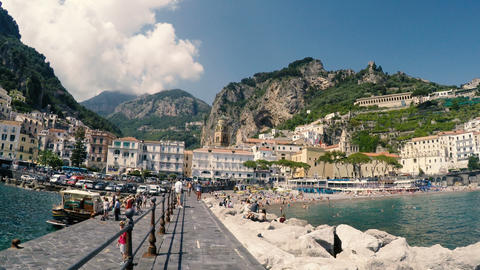 Panoramic view of world famous Amalfi coast Footage