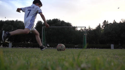 Young Football Player Ronaldo Scores A Goal GIF