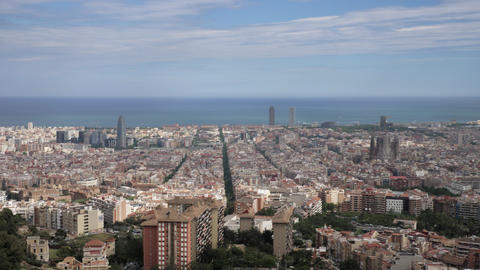 Panorama of Barcelona Catalonia Spain Live Action