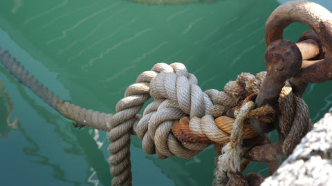 Fastening of the Rope at the pier GIF