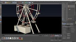 Ferris Wheel full Dynamic 3d model 3Dモデル