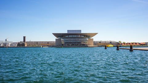 Time lapse of The Copenhagen Opera House is the national opera house of Denmark, Live Action