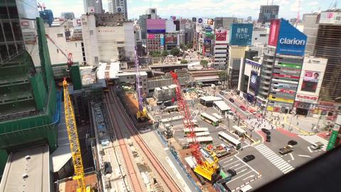 Shibuya pedestrian crossing Time Lapse From Hikariye Footage