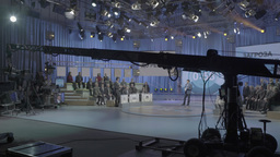 TV Studio where a recording of the live broadcast Footage
