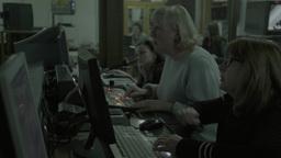 Director of live broadcast work in TV Studio Footage