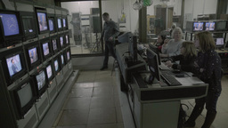 Control room live broadcast in the TV Studio Footage