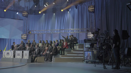 The TV Studio during the recording of the TV show with the audience Footage