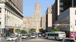 Buffalo City Hall Morning in New York Footage