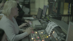 The woman directed the live broadcast during airtime Footage