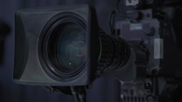 Camera during recording in TV Studio Footage