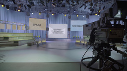 Empty TV Studio with camera Footage