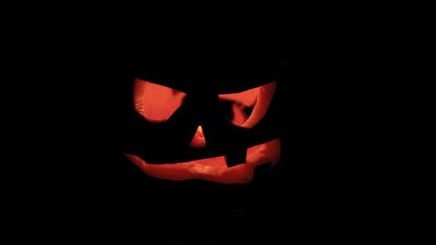 Flickering pumpkin for Halloween Footage