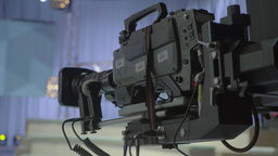 Camera in an empty TV Studio Footage