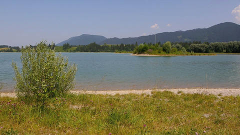 Video of a lake in the Bavarian Alps Live Action