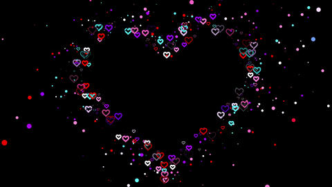 Wedding Hearts 4K 05 Vj Loop Animation