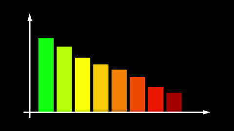 Abstract Multicolored Bar Graph Chart Animation