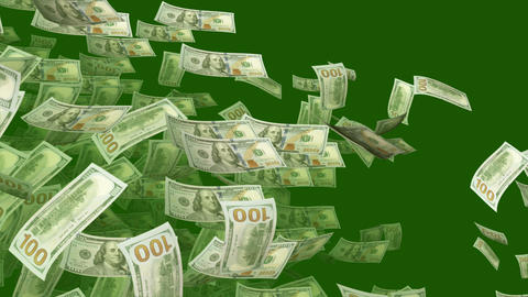 Flying Horizontally and Diagonally Dollars Animation
