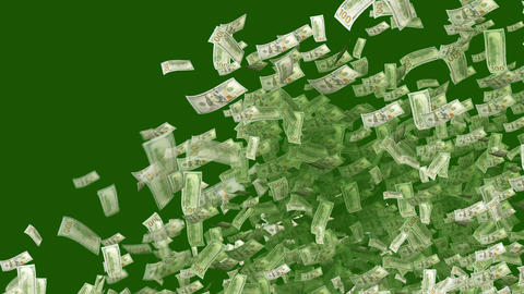 Dollars Exploding like a Festive Salute Animation
