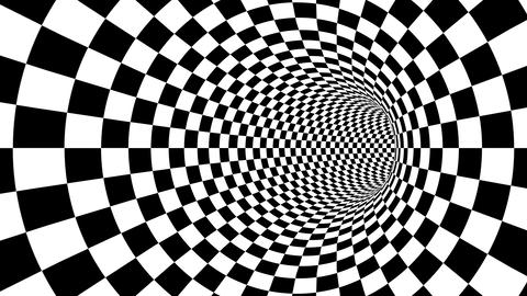 Optical black and white passage illusion Animation