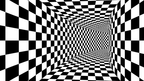 Optical Cubic Black and White Illusion Animation