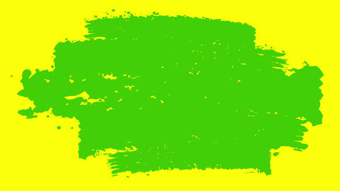 Green and Yellow Paint Brush Stripes CG動画