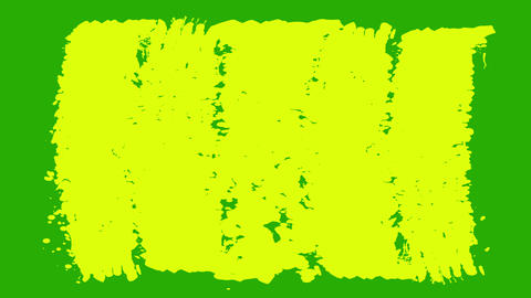 Yellow and Green Paint Brush Strokes CG動画