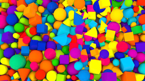 Multicolored Random Falling Balls Backdrop Animation