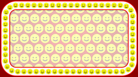 Smile happy red background rectangle frame Stock Video Footage