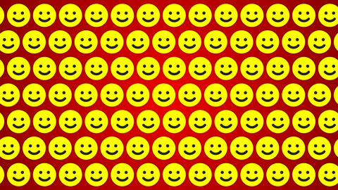 Smile happy red yellow background traffic horisontal Animation