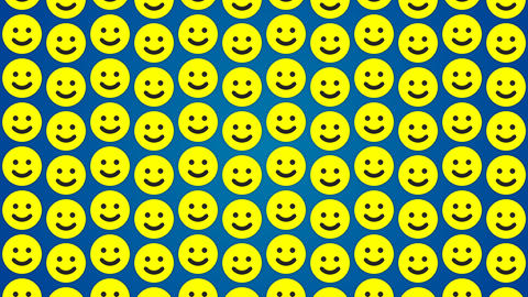 Smile happy blue background traffic vertical Animation