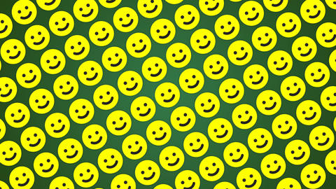 Smile happy green background traffic diagonal, Stock Animation