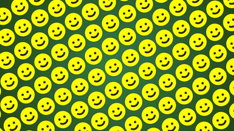 Smile happy green background traffic diagonal Animation