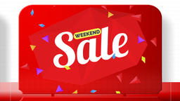 Sales promotional animation video with the inscription Weekend Sale . Big sale Animation