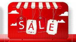 Sales promotional animation video with the inscription Sale. Big sale, hot sale Animation