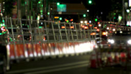 ROPPONGI, TOKYO, JAPAN - CIRCA JUNE 2018 : TAXI and CAR passing at night time 영상물