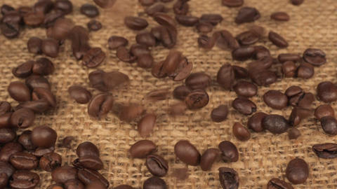 Coffee beans close up slow motion Live Action