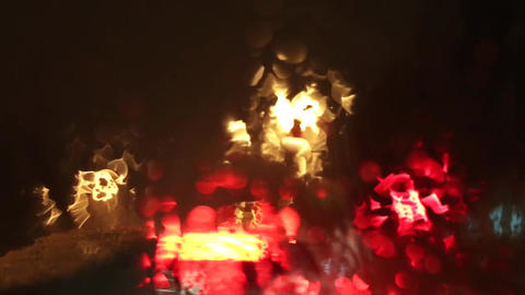 Car lights rain water blur bokeh 영상물