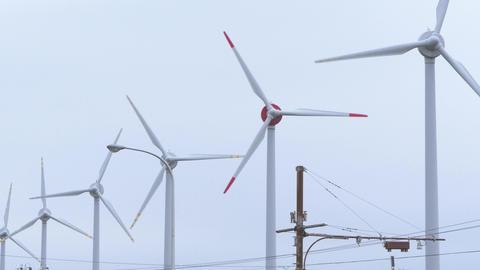 Wind power generation 4K Footage