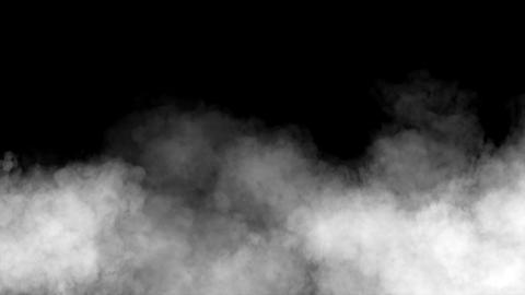 Black white smoke on black background, fog, steam Footage