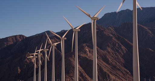 Large wind farm in California Footage