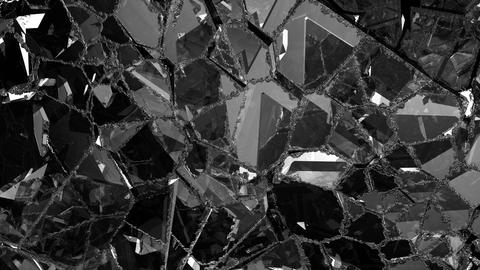 Pieces of Shattered glass in slow motion. Alpha matte, 3d… Stock Video Footage