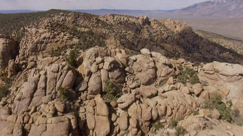 Aerial shot of amazing rock formations in California Live Action