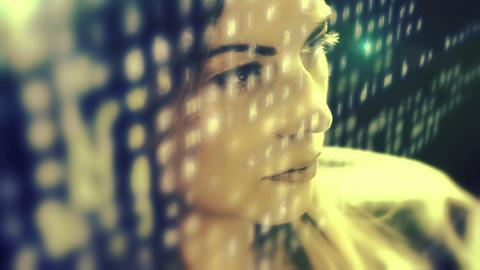 Woman developer coding a virus Footage