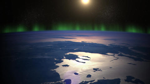 Earth with Sun From Space Stock Video Footage
