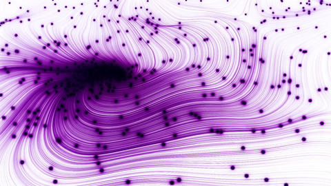 Animation of abstract wave with spheres CG動画素材