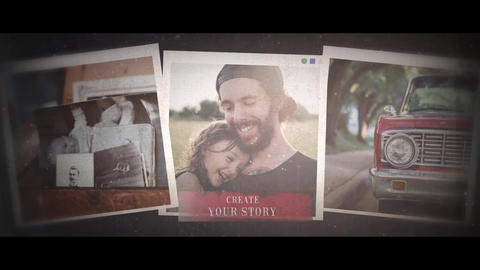 Family Story - Retro Slideshow After Effects Template