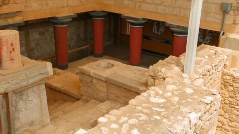 Minoan Palace of Knossos, Heraklion, Crete, Greece GIF