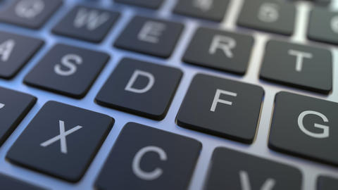 DELETE key turning over to ADD button on the keyboard. Conceptual 3D animation Live Action